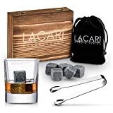 LACARI® Bar & More Premium Whisky Steine Set – [9x]...