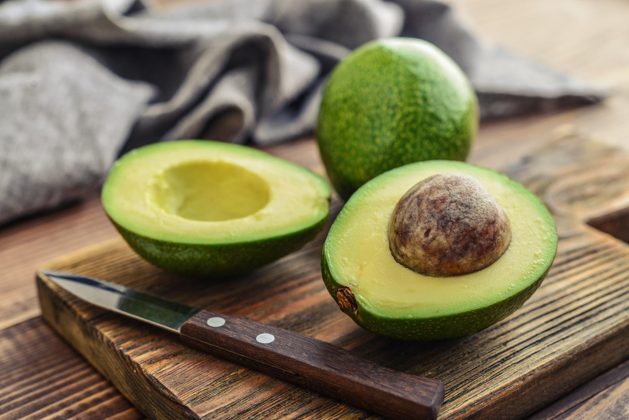 Avocados pflegen die Haare