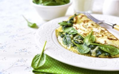 Spinat Parmesan Omelett