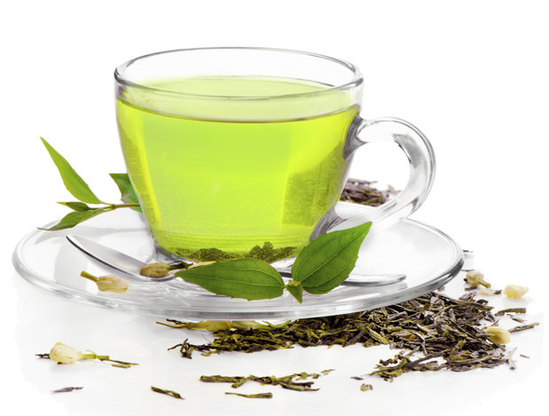 healthy green tea  isolated on white background