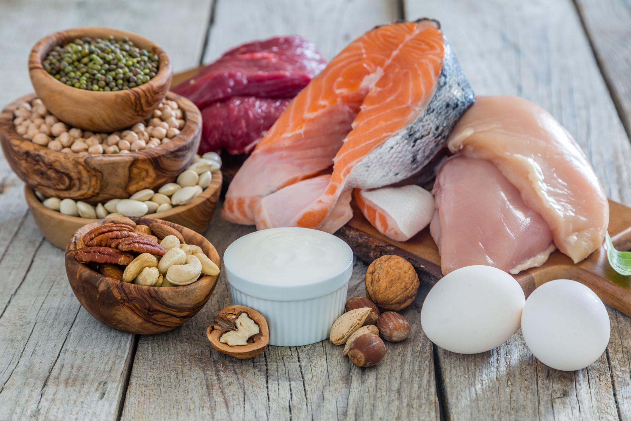 Lebensmittel, die viel Eiweiß enthalten und gut zum Abnehmen sind
