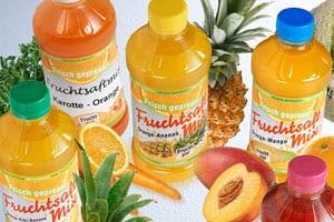 Fruchtsäfte enthalten oft sehr viel Zucker