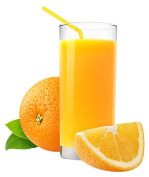Trinke Fruchtsaft nur in maßen