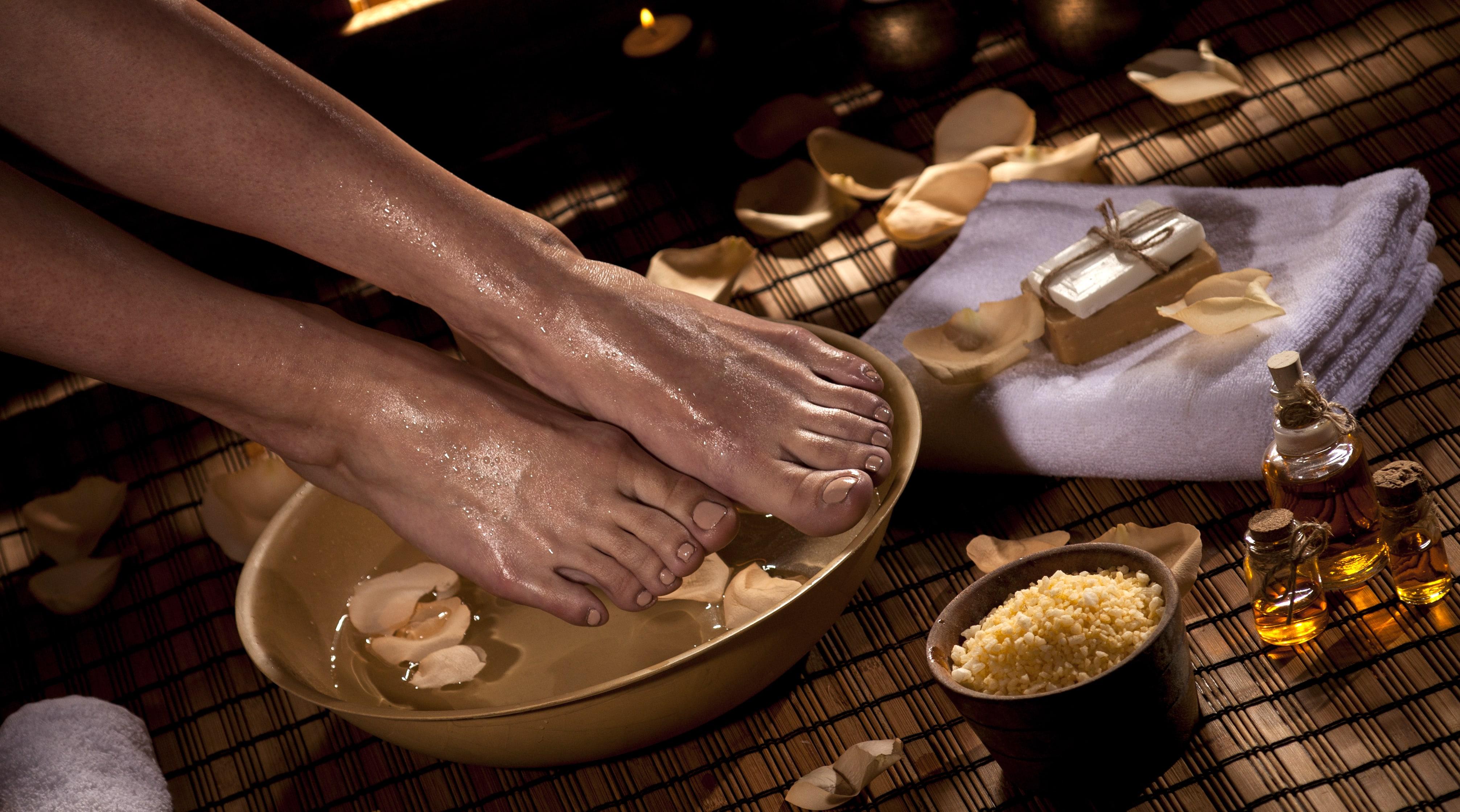 Massage mit Ölen