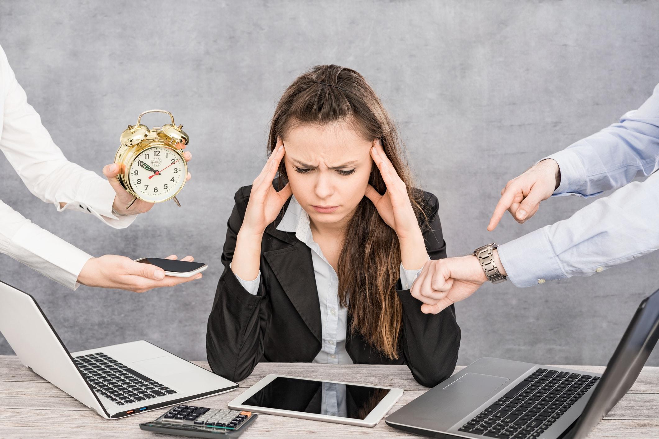 Es existiert eine Korrelation zwischen Stress und Haarwachstum