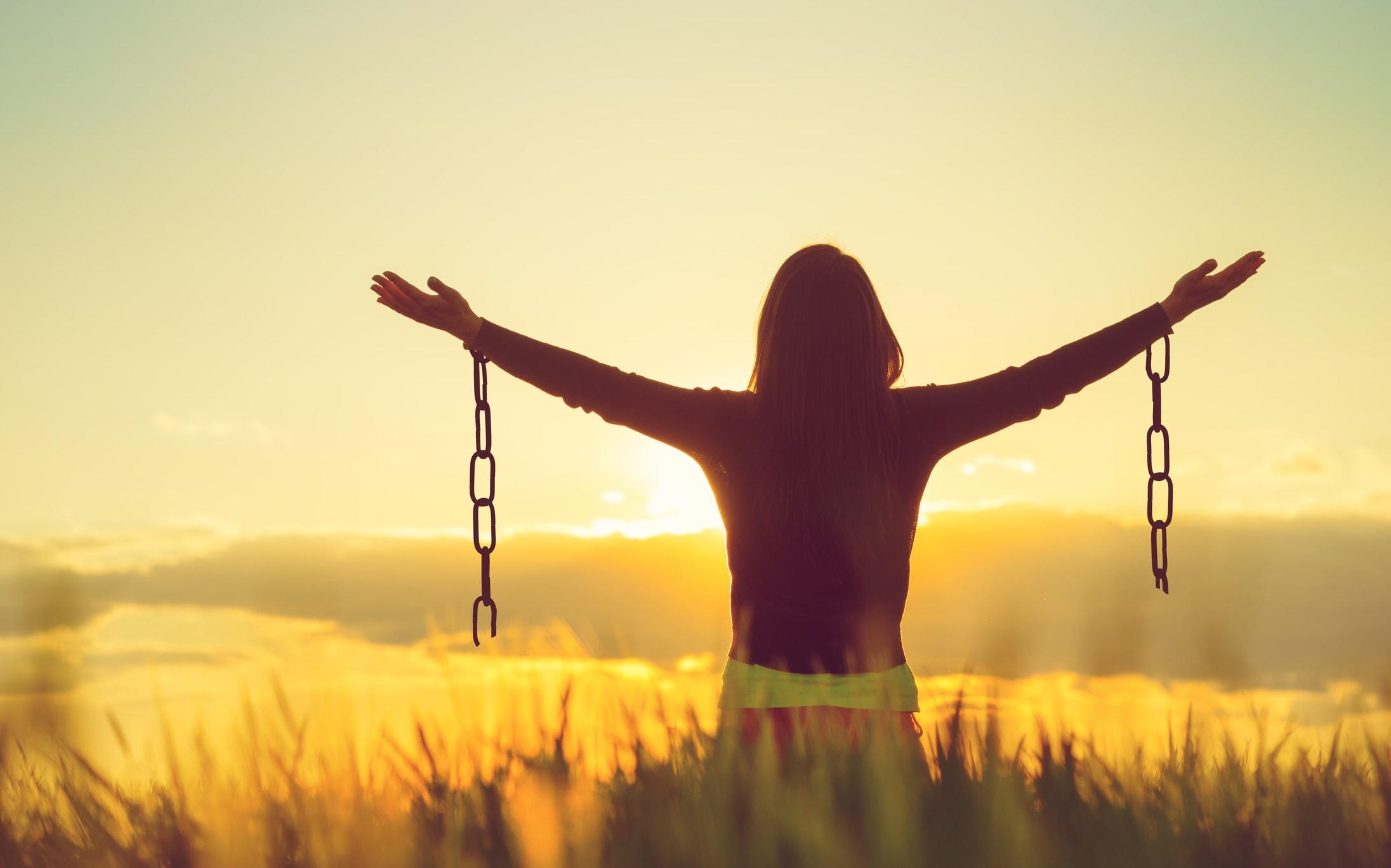 Befreite Frau