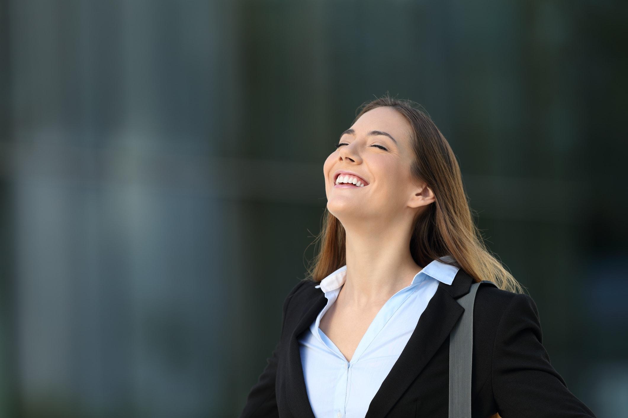Zufriedene Frau