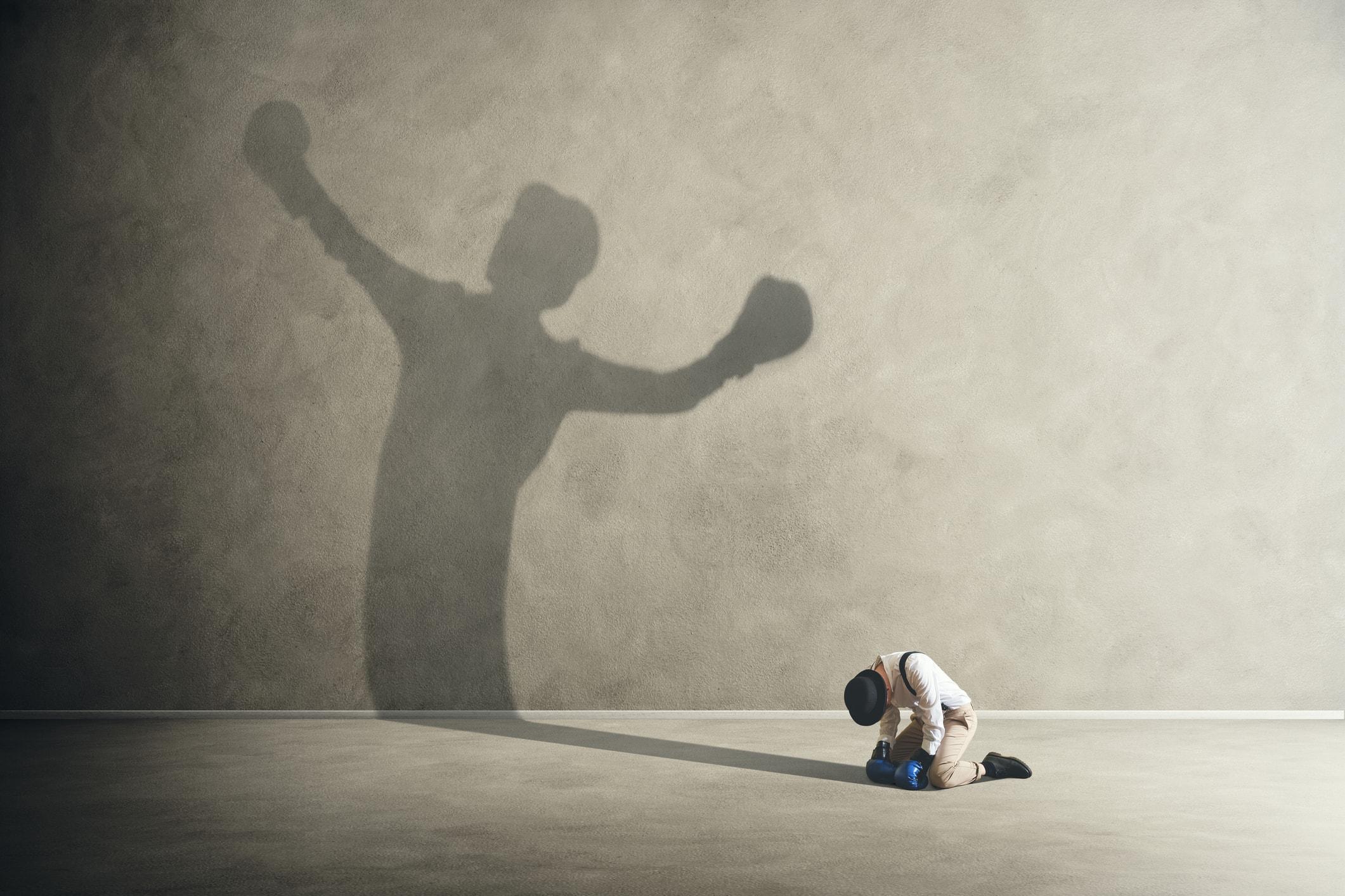 Mensch und sein Schatten