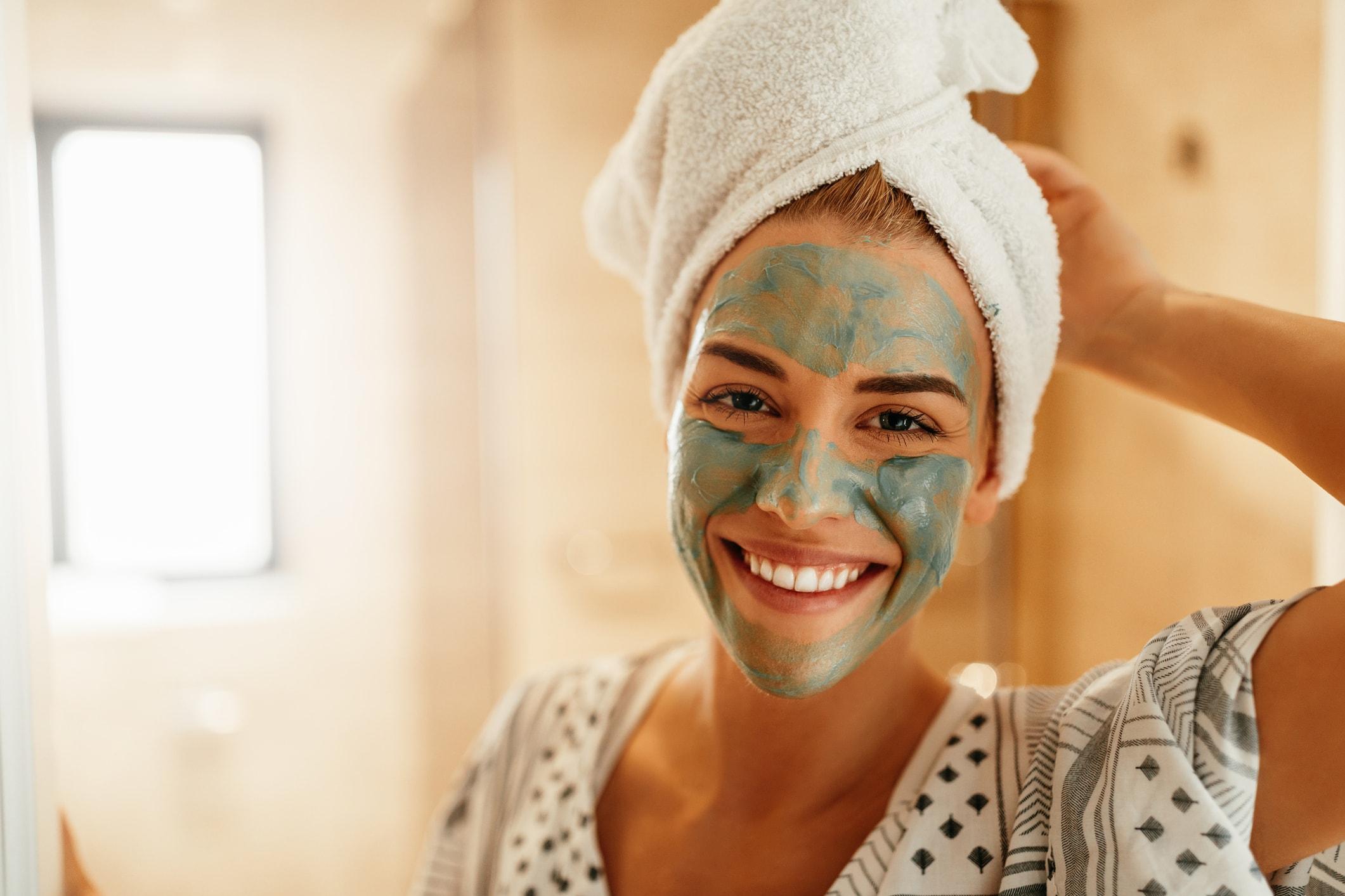 Maske nach dem Duschen