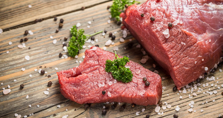 Fleisch enthält so gut wie keine Kohlenhydrate