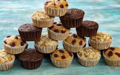 Low Carb Berry-Mohn-Joghurt Muffins
