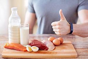 Eine proteinreiche Ernährung ist wichtig